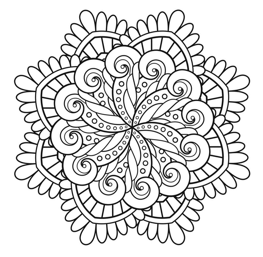 Colorear para adultos : Mandalas - 207