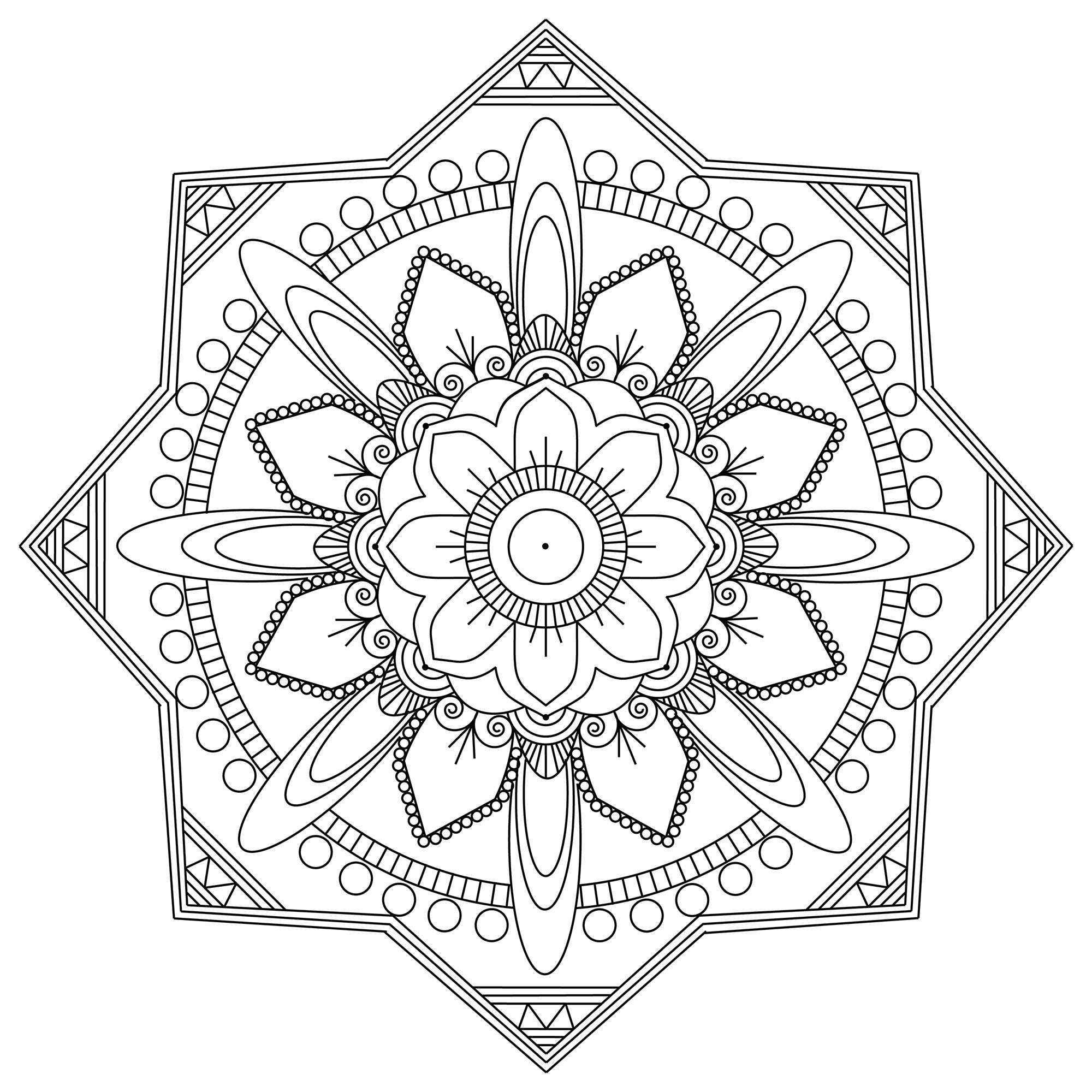 Colorear para adultos : Mandalas - 196