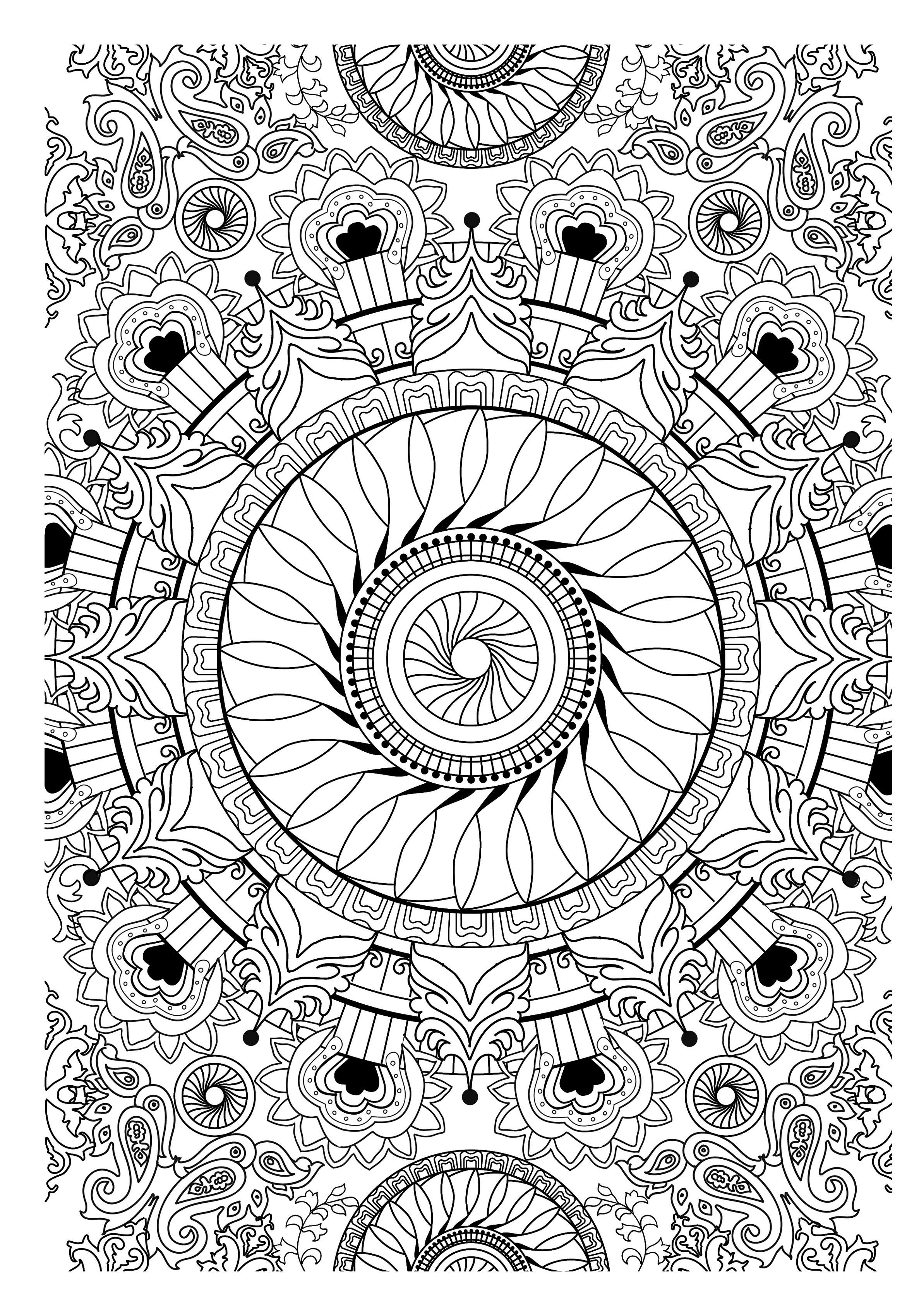 Colorear para adultos : Mandalas - 23