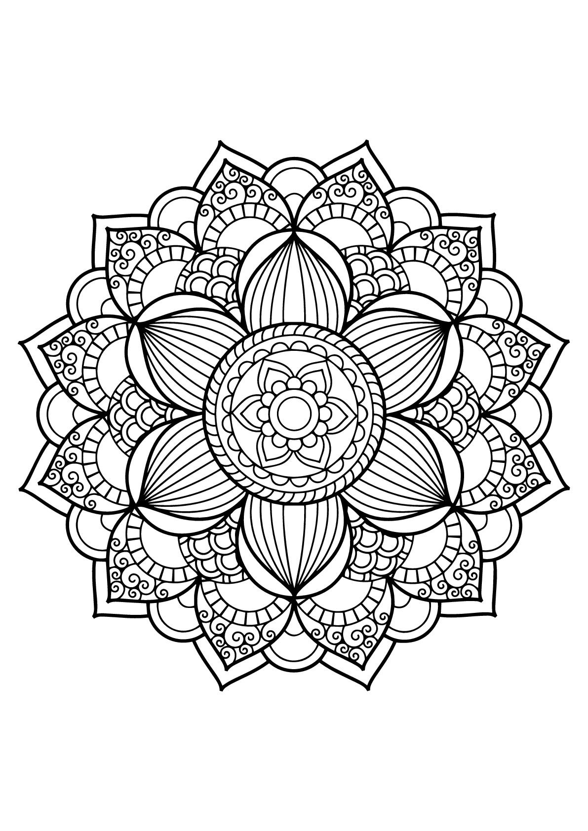 Colorear para adultos  : Mandalas - 17