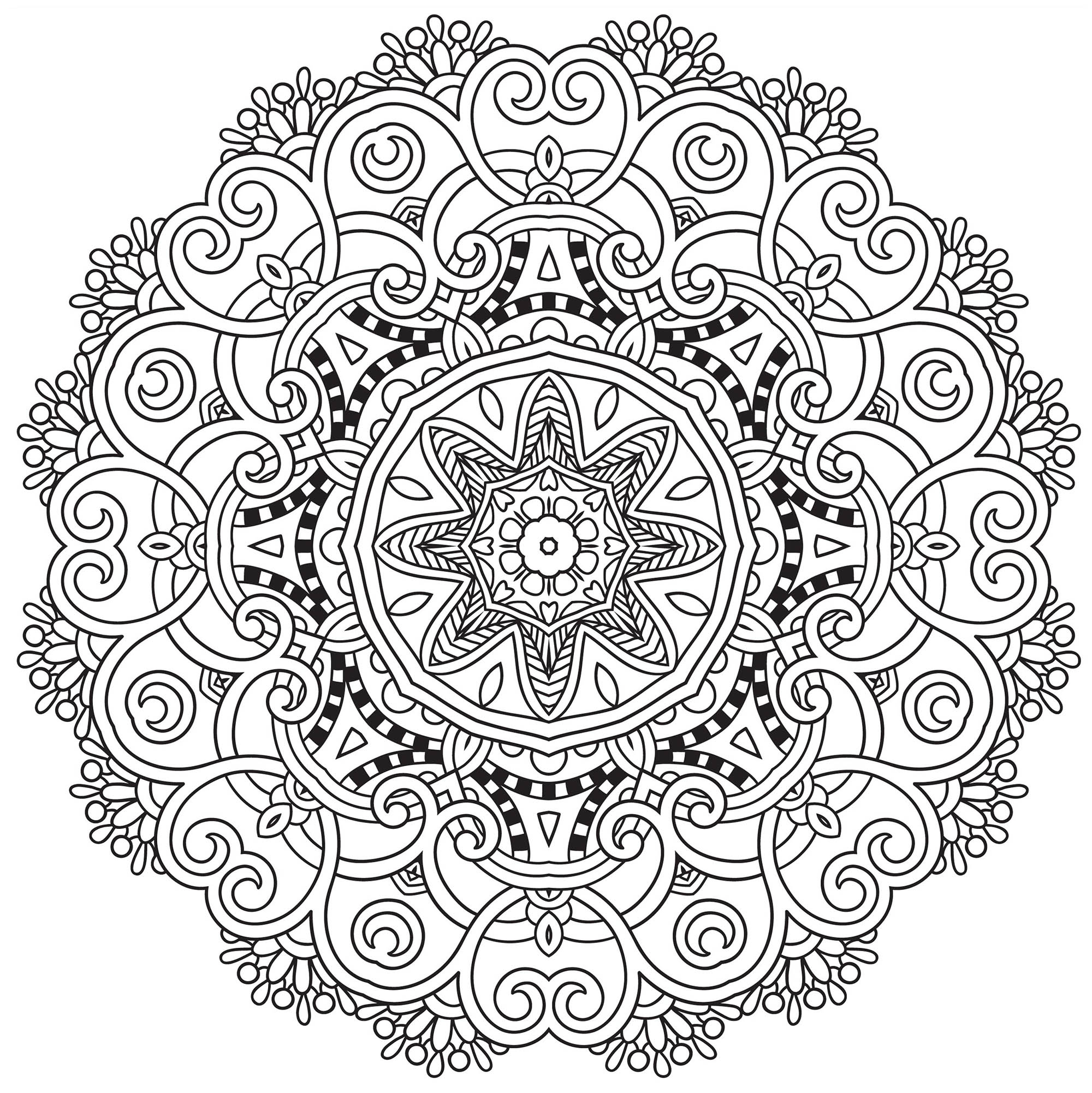 Colorear para adultos : Mandalas - 129