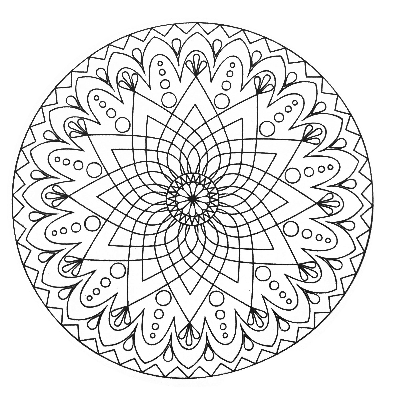 Mandalas 61516 - Mandalas - Colorear para Adultos