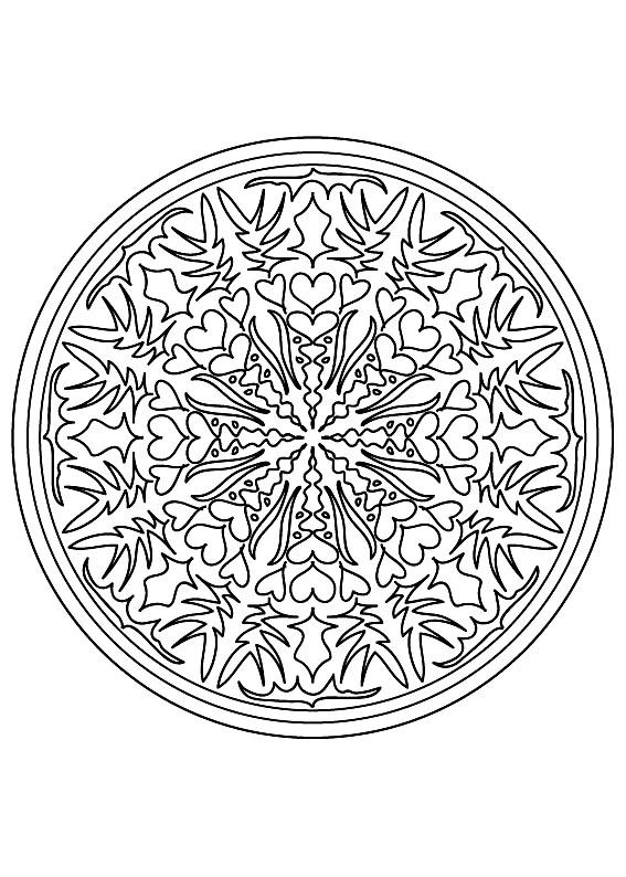 Mandalas 68545 - Mandalas - Colorear para Adultos