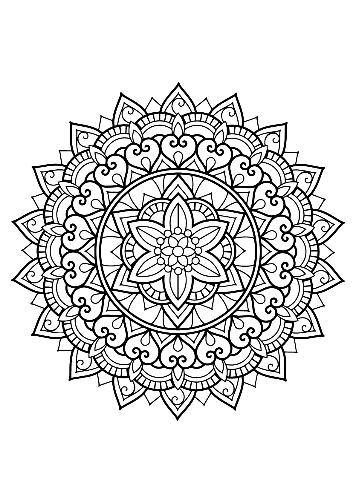 Colorear para adultos  : Mandalas - 29