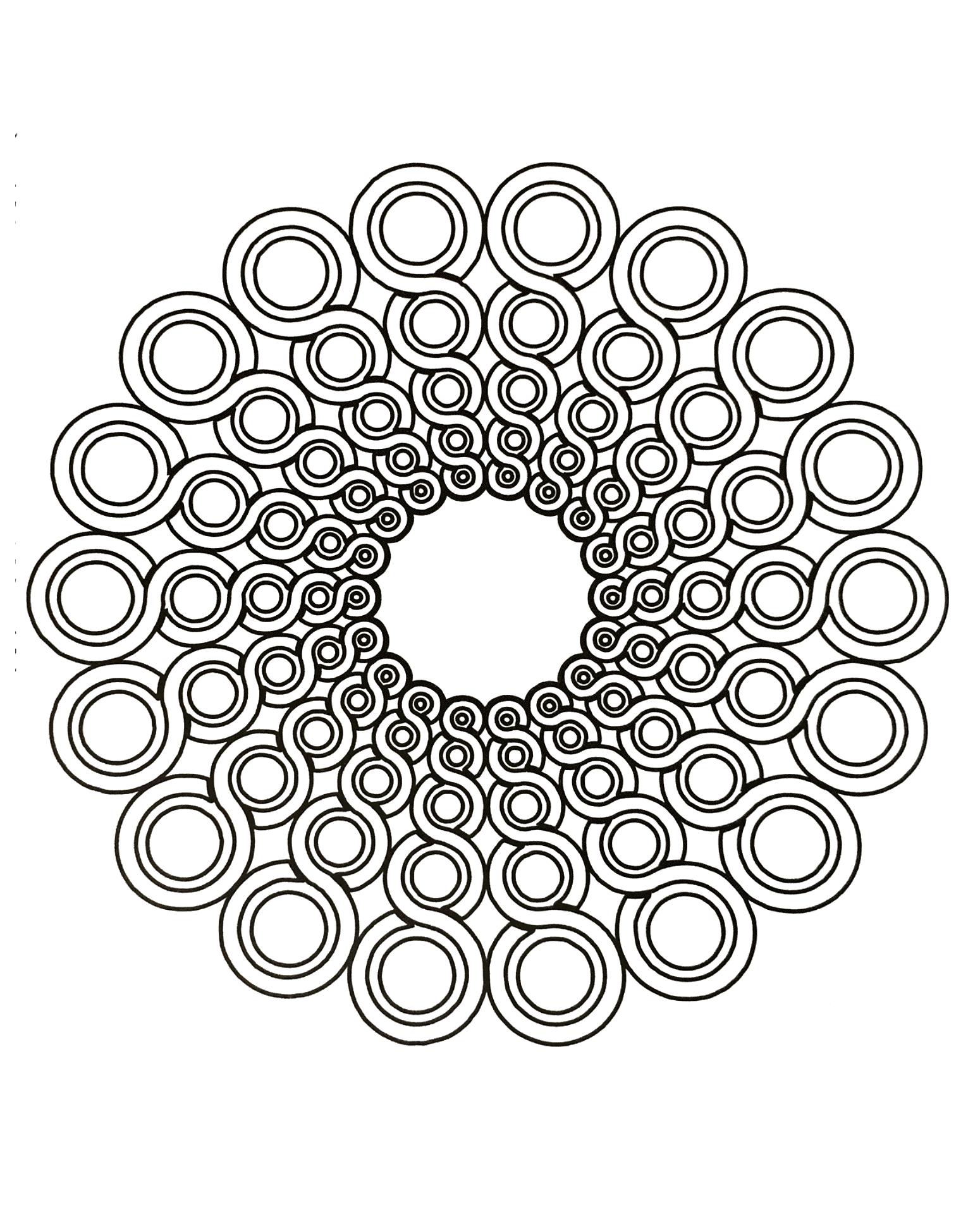 Colorear para adultos : Mandalas - 68