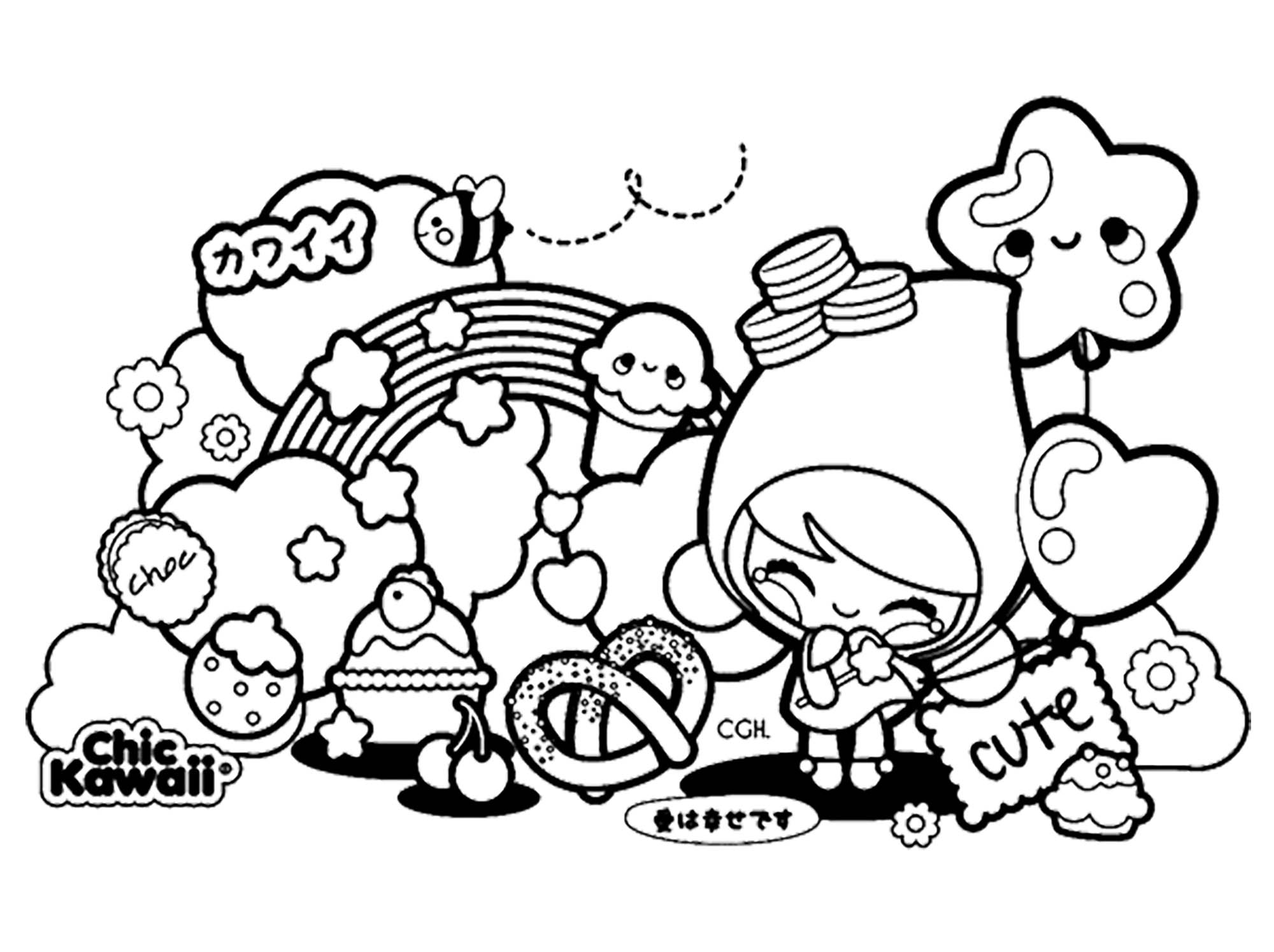 Colorear para adultos  : Mangas - 1