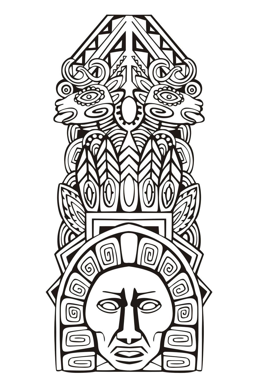 Mayas aztecas e incas 1960 - Mayas, Aztecas e Incas - Colorear para ...