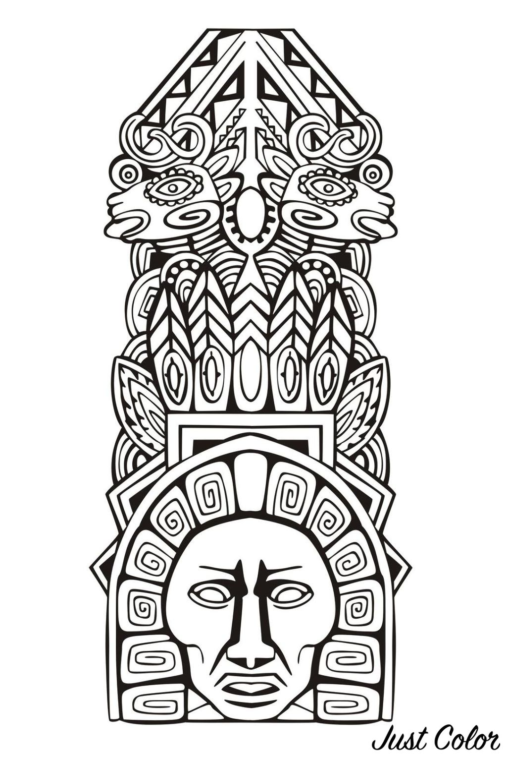 Colorear para adultos : Mayas, Aztecas e Incas - 10