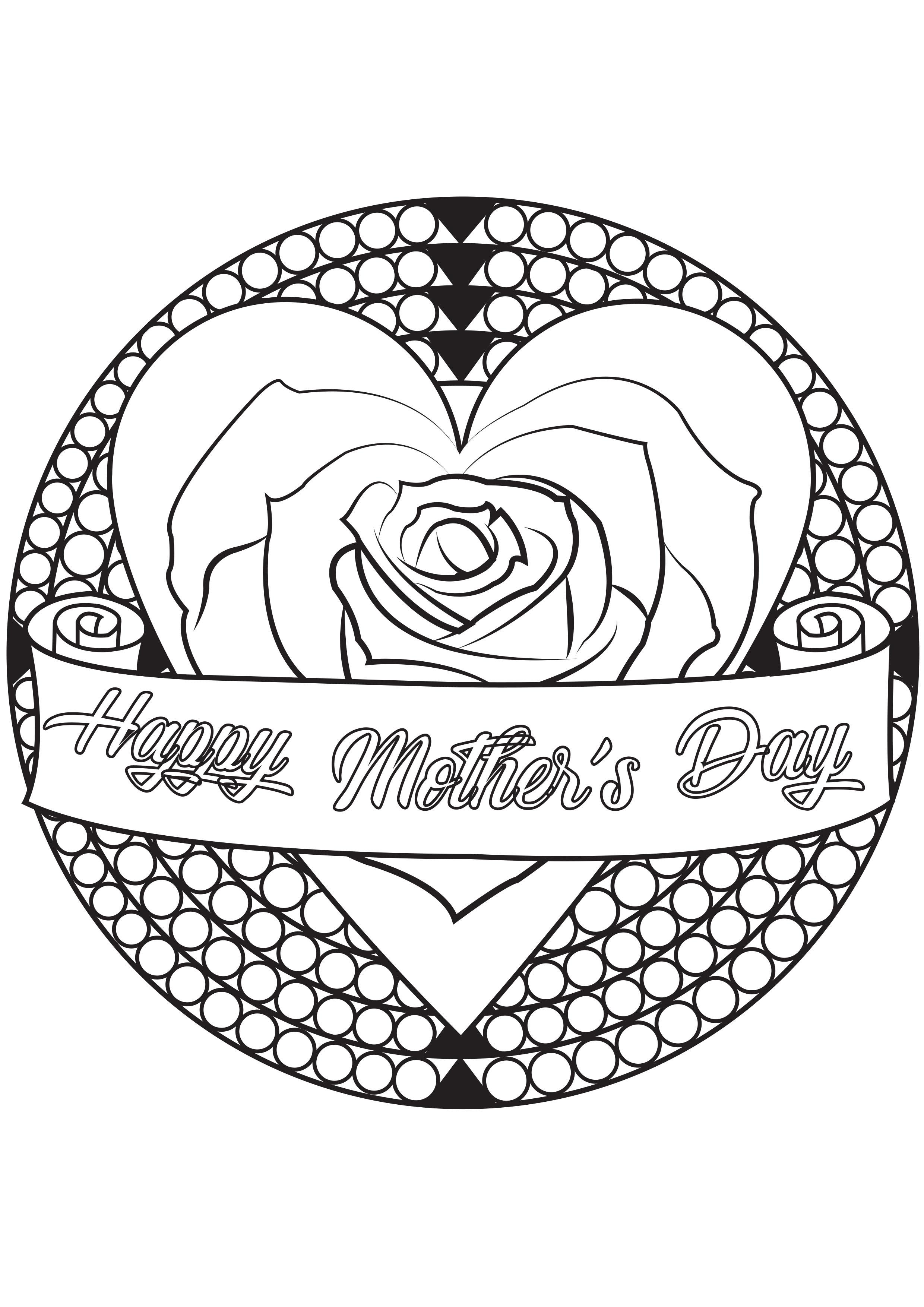 28547 - Día De La Madre - Colorear para Adultos