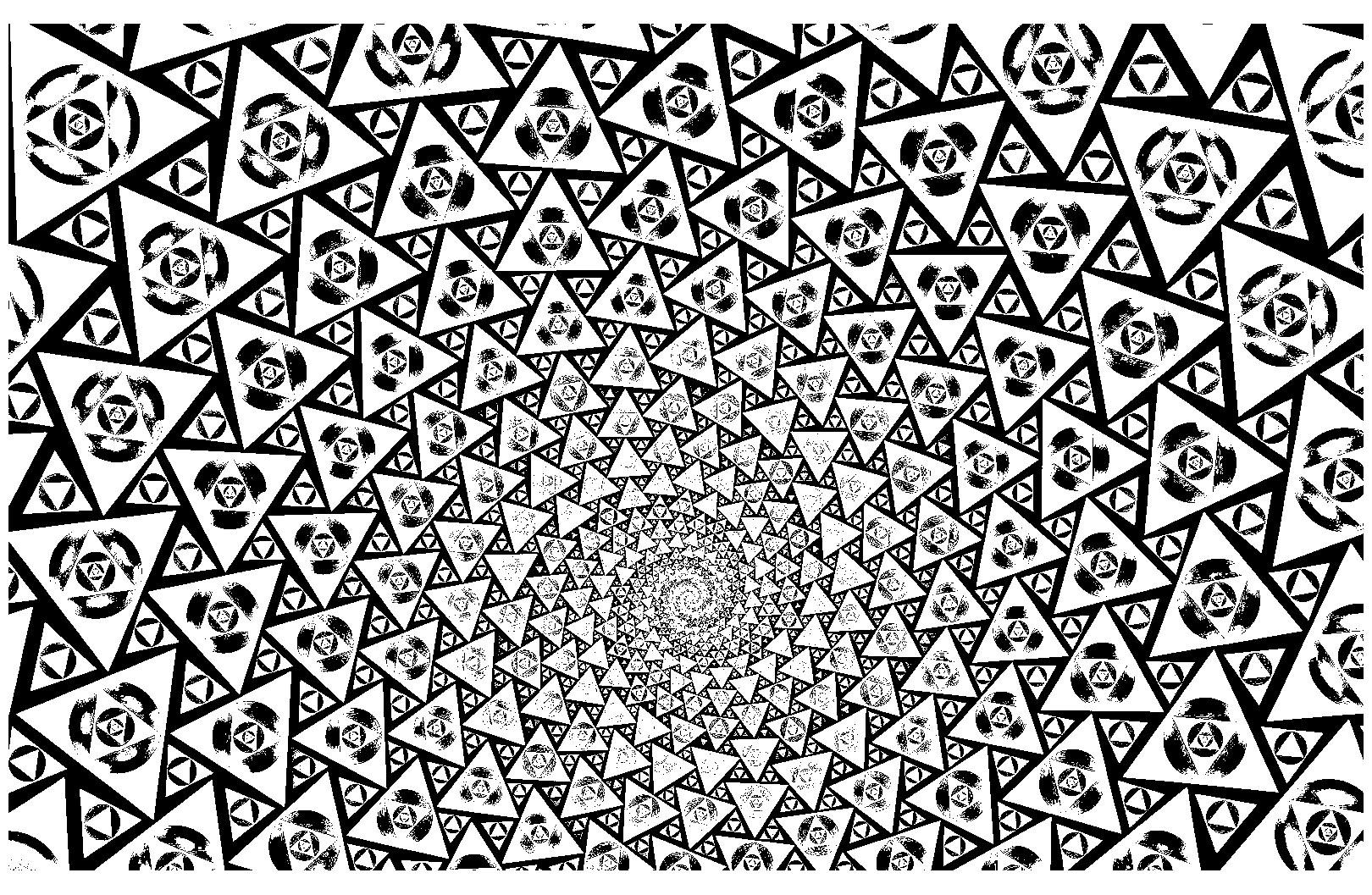 Colorear para adultos : Psychedelic - 9