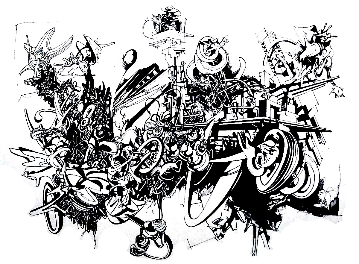 Colorear para adultos : Leyendas y graffitis - 7
