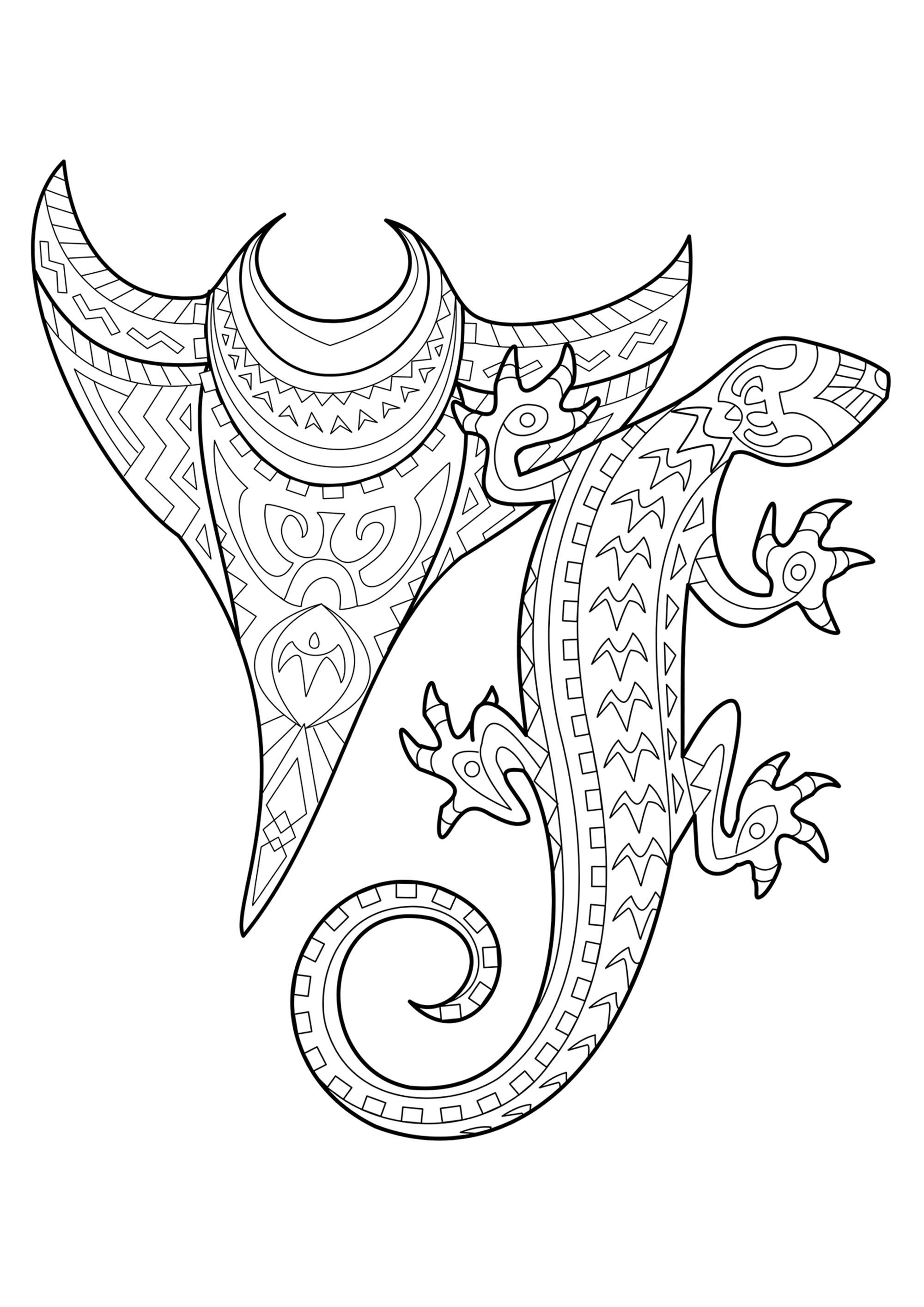 Colorear para Adultos : Tatuajes - 2