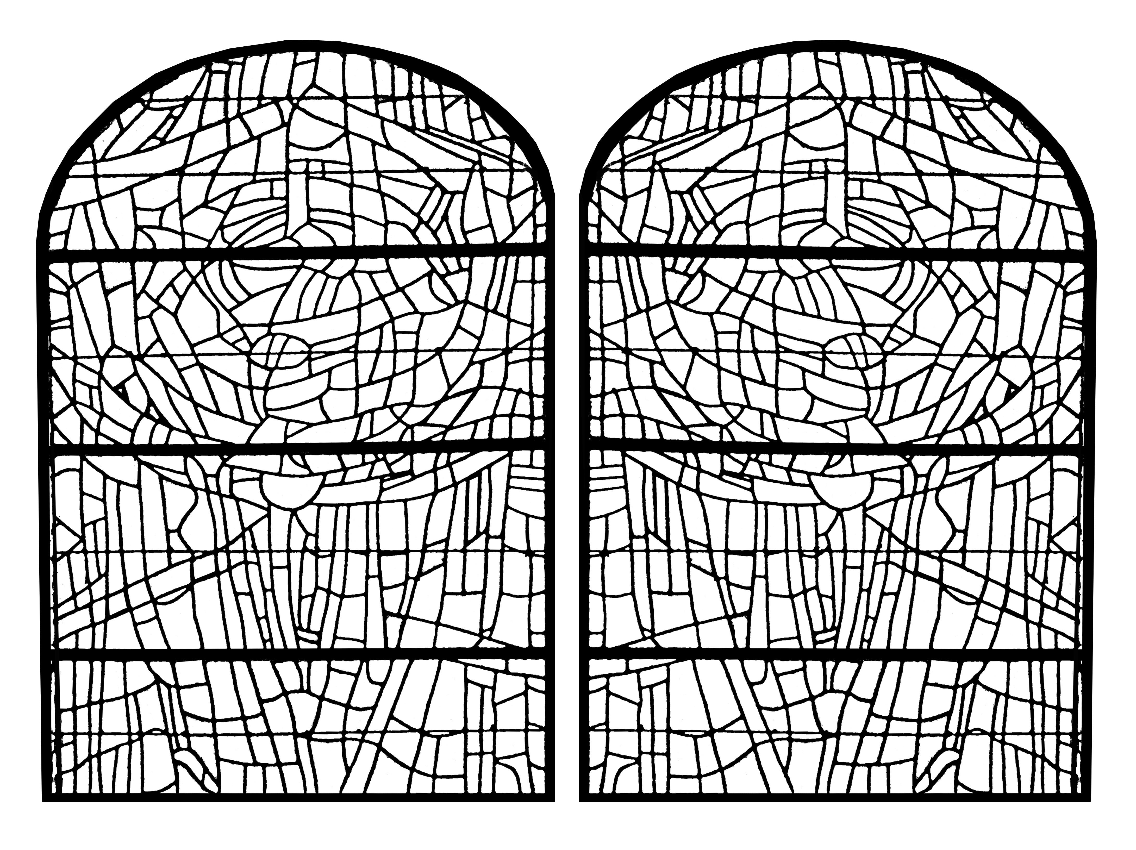 Vidrieras 10501 | Vidrieras - Colorear para adultos