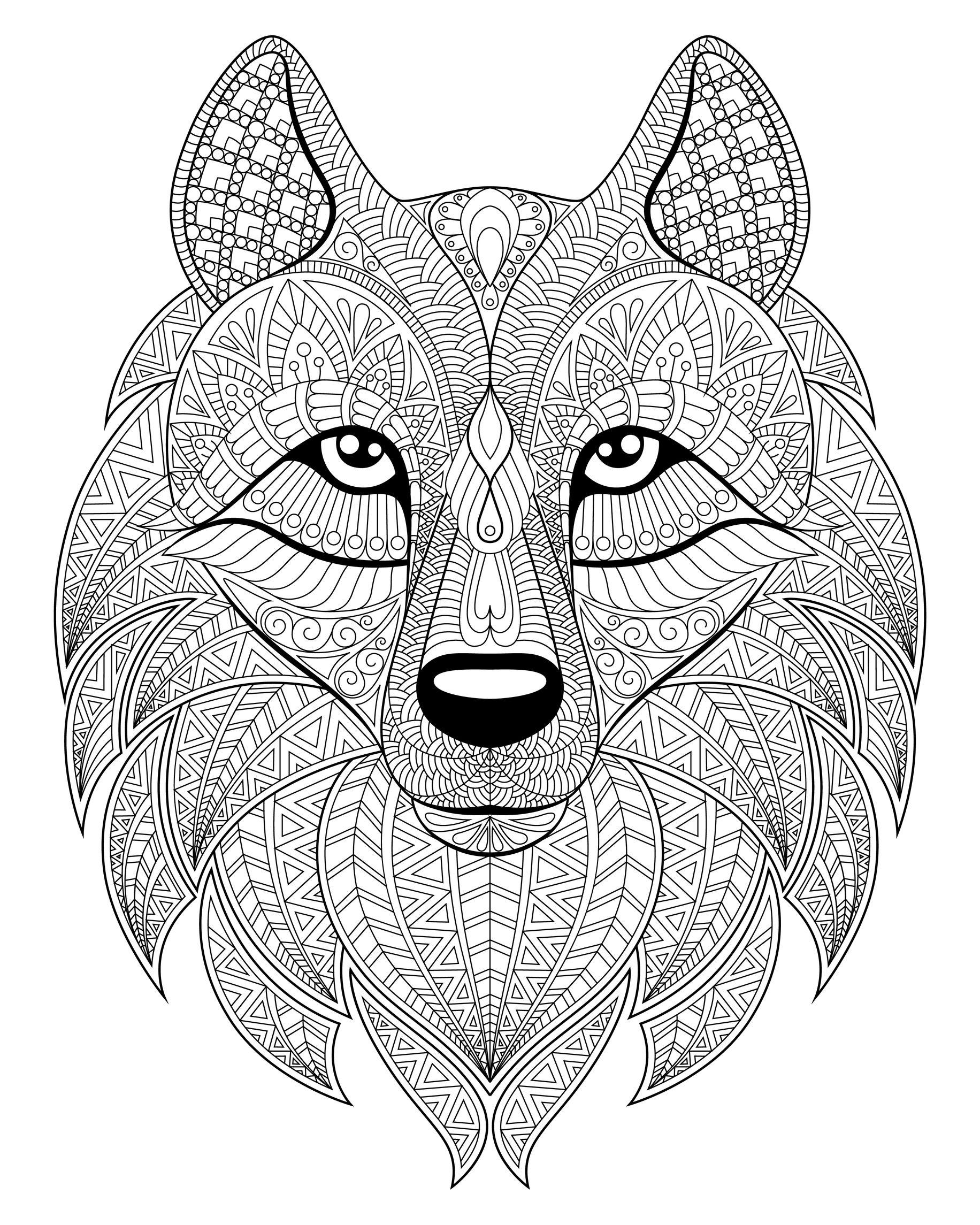 Lobos 70197 - Lobos - Colorear para Adultos