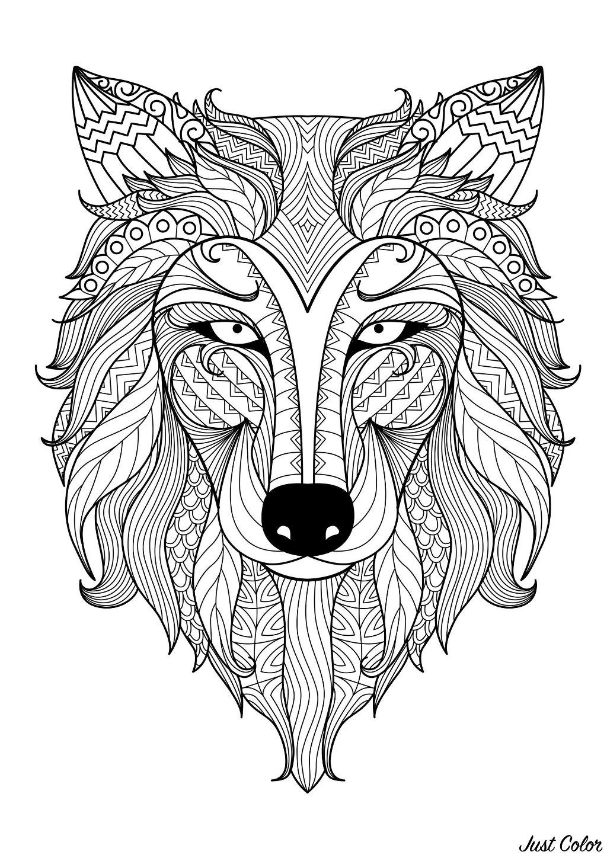 Lobos 72361 Lobos Colorear Para Adultos
