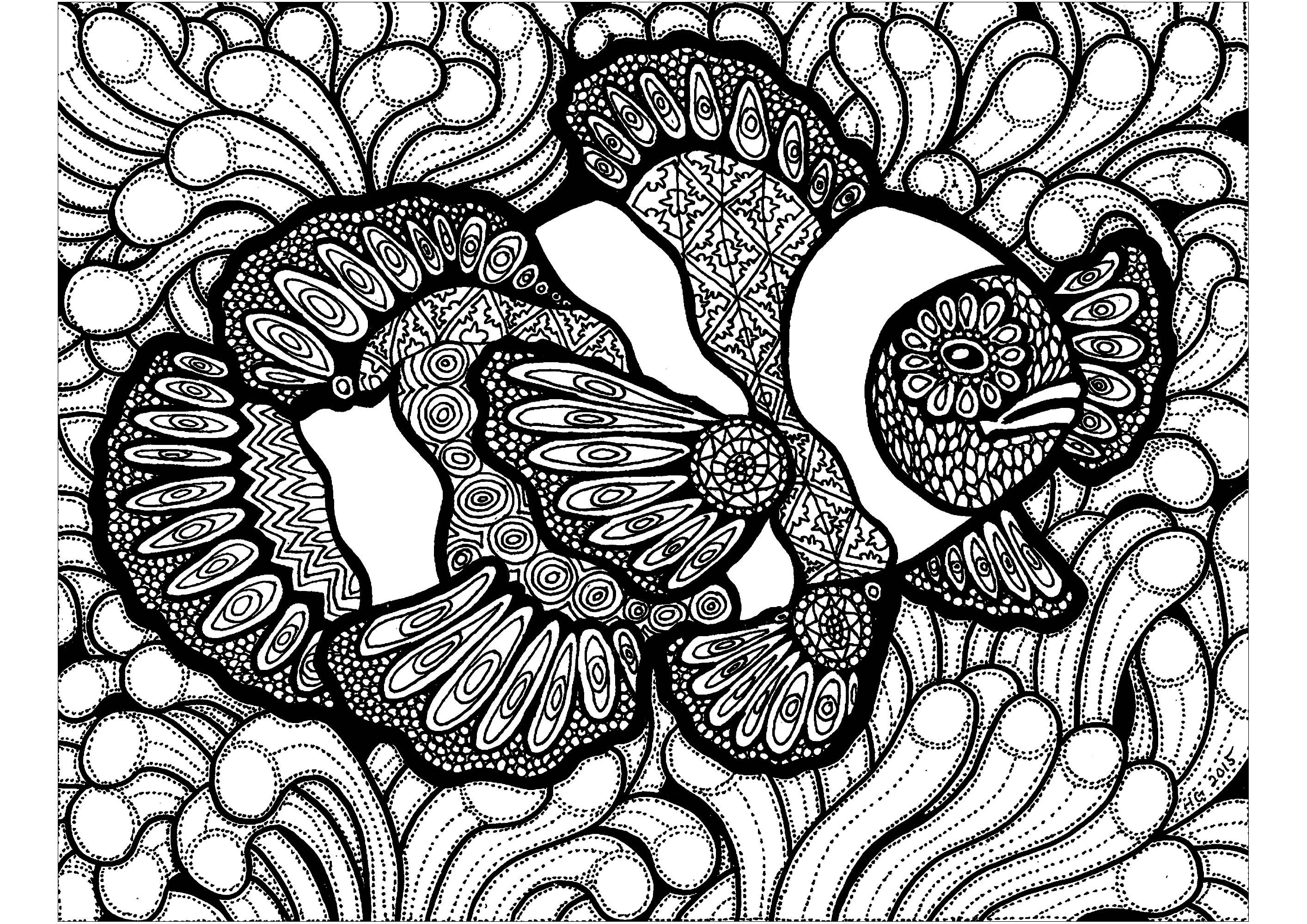 Colorear para Adultos : Zentangle - 7