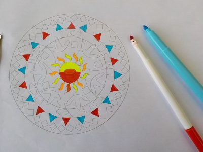 Tutorial Mandala with Fluo colors
