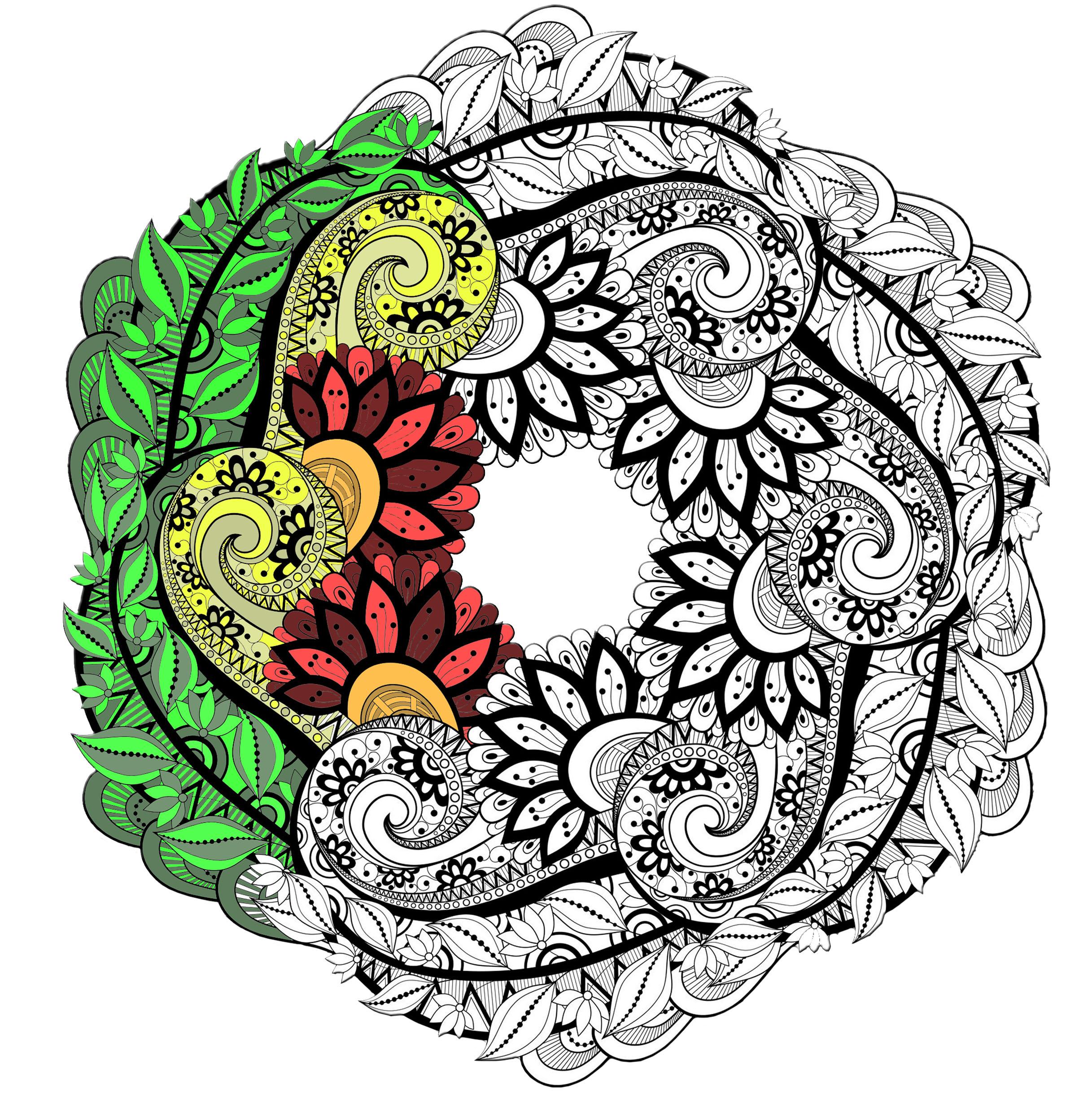 Coloriage Gratuit Imprimer Mandala.Mandalas Coloriages Difficiles Pour Adultes