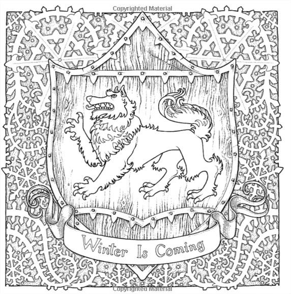 Coloriage inspiré de la Maison Starck, symbolisée par le Loup