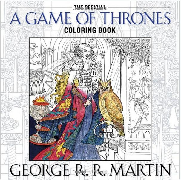 Cover - The Official A Game of Thrones Coloring Book - George R. R. Martin - Livres - Google Chrome