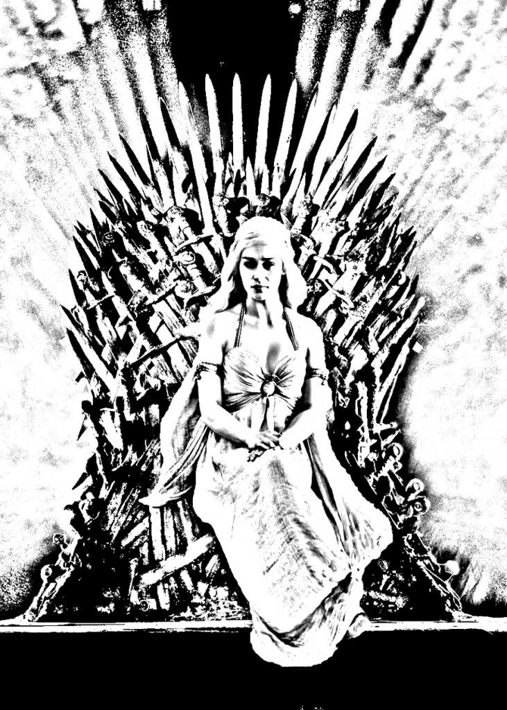 Coloriage de Daenerys Targaryan créé à partir d'une photo
