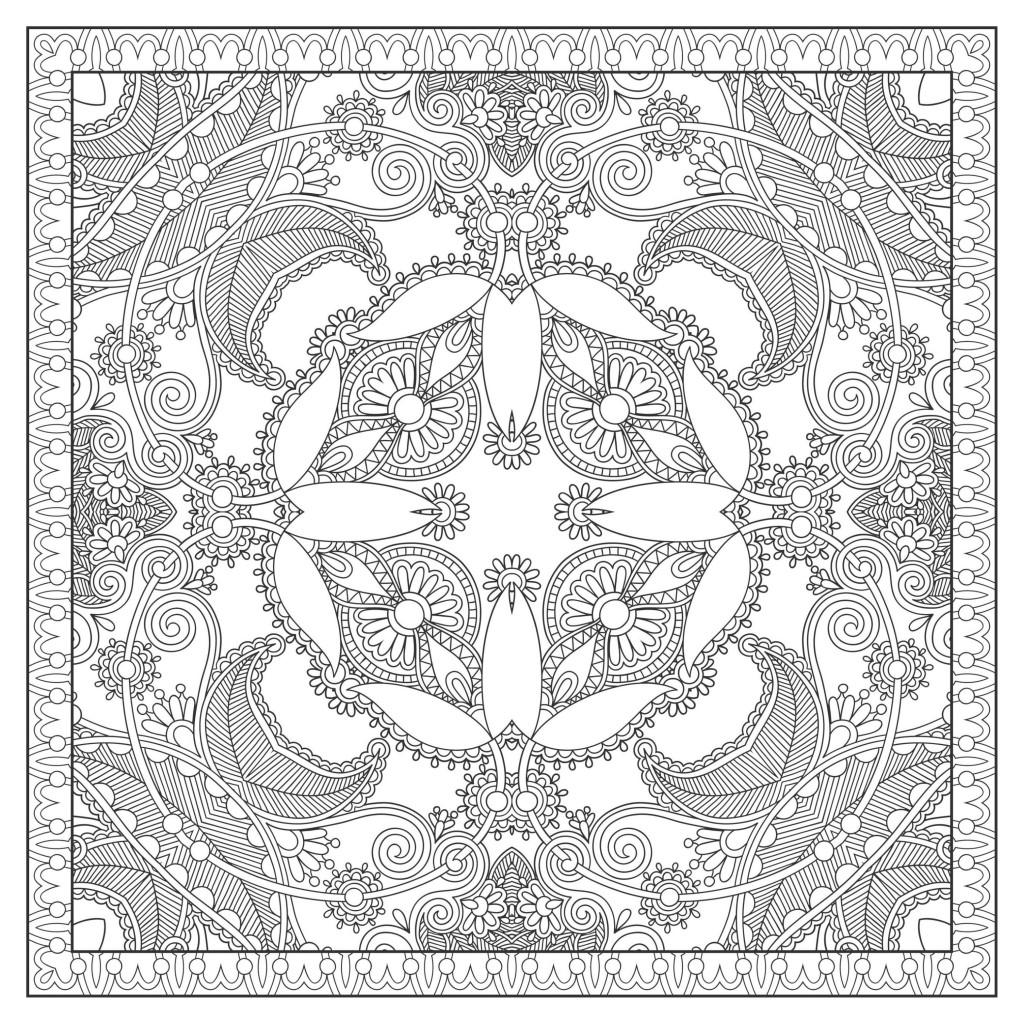 Mandalas Coloriages Difficiles Pour Adultes