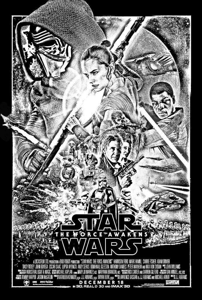 coloriage-adulte-affiche-star-wars-reveil-de-la-force
