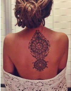 Art sur papier art dans la peau le tatouage de mandalas - Tatouage mandala dos ...