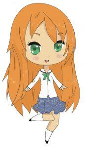 Coloriage De Fille Chibi.Tutoriel Manga Chibi Fille Coloriages Difficiles Pour