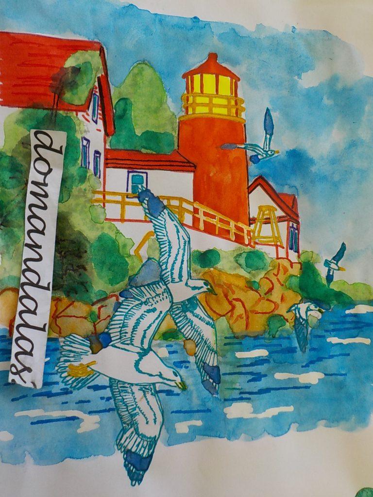 tuto coloriage paysage marin à l u0027aquarelle par domandalas