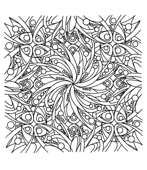 Coloriage Zen Difficile.Zen Anti Stress Art Therapie Coloriages Difficiles