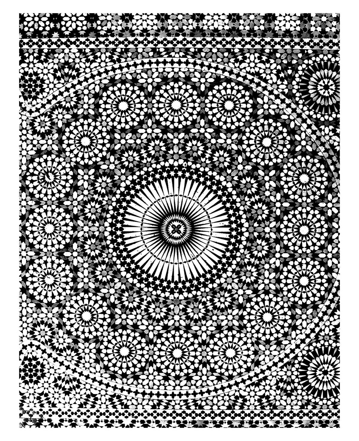 Oriental Mosaique Mekhnes Orient Et 1001 Nuits Coloriages