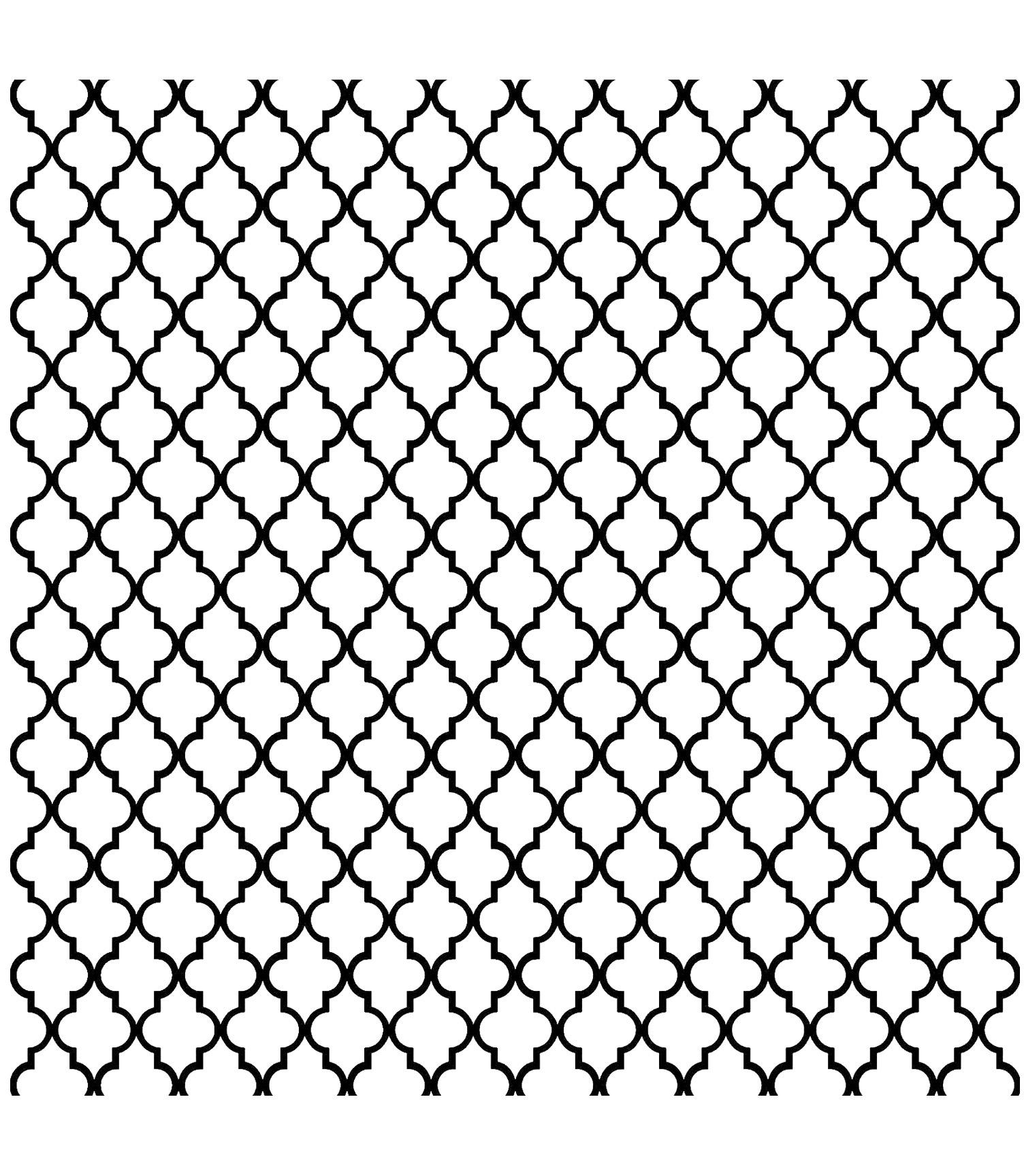 Motifs orientaux symétriques et réguliers, à colorier, pour un moment de dépaysement total