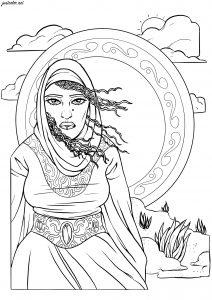 Coloriage femme orientale