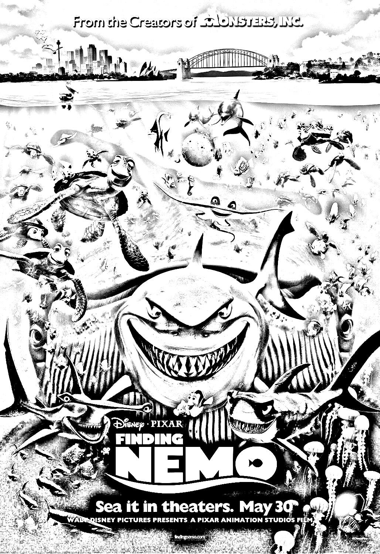 Film Nemo Disney Pixar Films Célèbres Coloriages Difficiles Pour