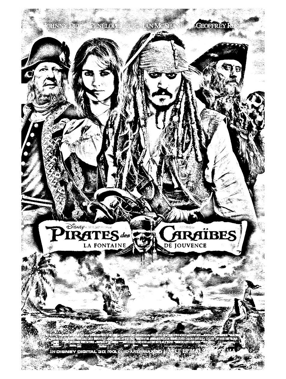 élégant Coloriage Gratuit Pirate Des Caraibes Imprimer Et