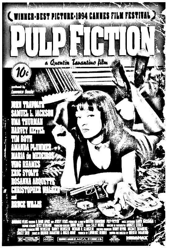 Coloriage Affiche film Pulp Fiction de Quentin Tarantino