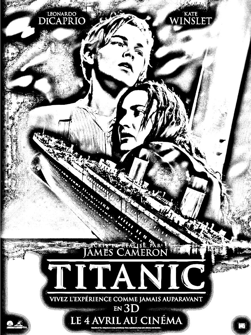 Film titanic films c l bres coloriages difficiles pour adultes - Dessin du titanic ...