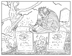 Coloriage-pour-adulte-Beetlejuice free to print
