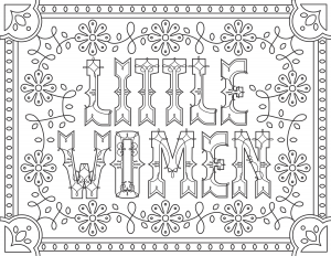 coloriage-adulte-Little-Women free to print