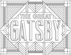 Coloriage adulte The Great Gatsby
