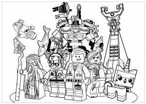 Coloriage lego movie