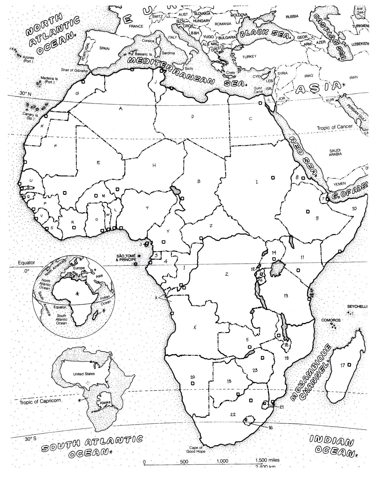 Afrique carte afrique coloriages difficiles pour adultes - Coloriage afrique a imprimer ...