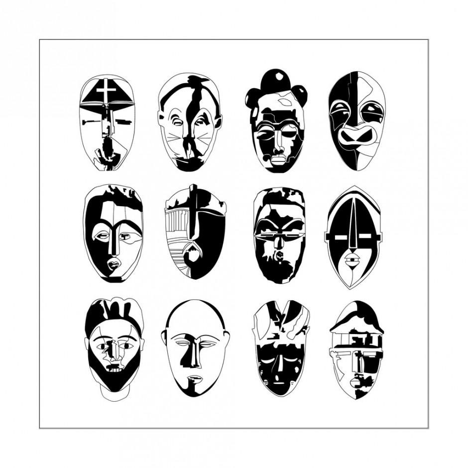 Masques Africains différents et nombreux