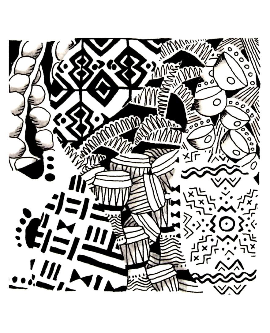 Afrique motifs afrique coloriages difficiles pour - Dessin africain a colorier ...