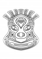 coloriage-adulte-masque-africain-2 free to print