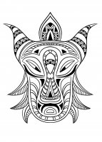 coloriage-adulte-masque-africain-3 free to print