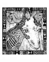 Coloriage afrique girafe