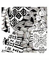Coloriage afrique motifs