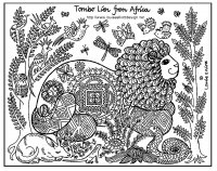 Coloriage afrique tomnbo lion